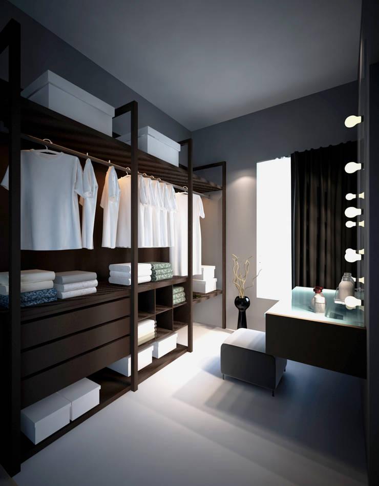 Apartment Aston Ancol :  Ruang Ganti by Elora Desain