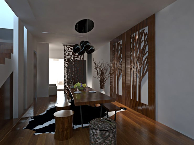 Apartment Aston Ancol :  Ruang Keluarga by Elora Desain