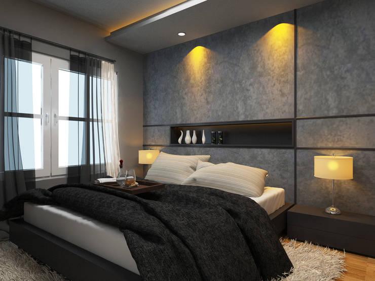 Apartment Aston Ancol :  Kamar Tidur by Elora Desain