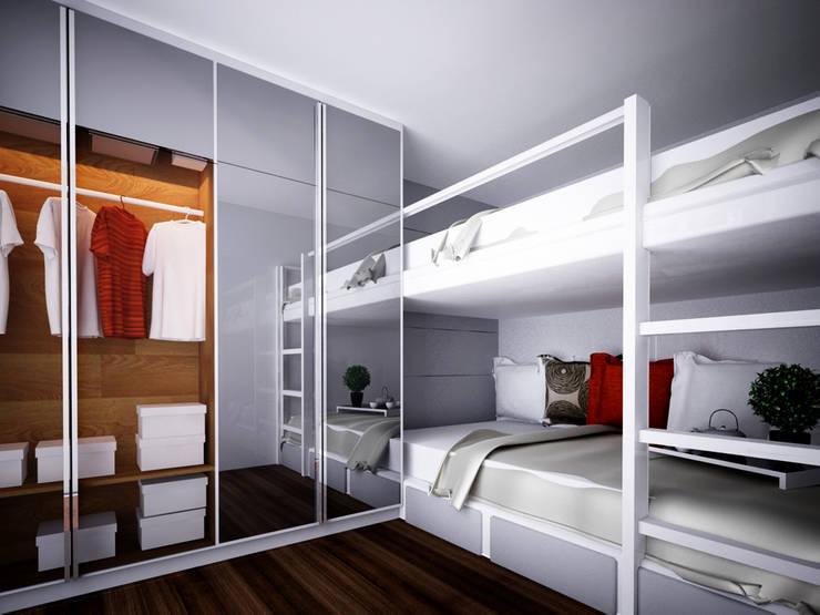 Apartment Gading Greenhill:  Kamar Tidur by Elora Desain