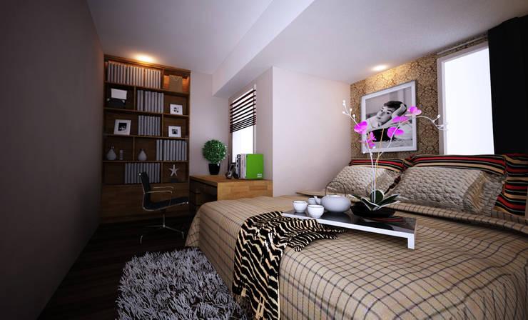 Apartment Gading Greenhill:  Ruang Keluarga by Elora Desain