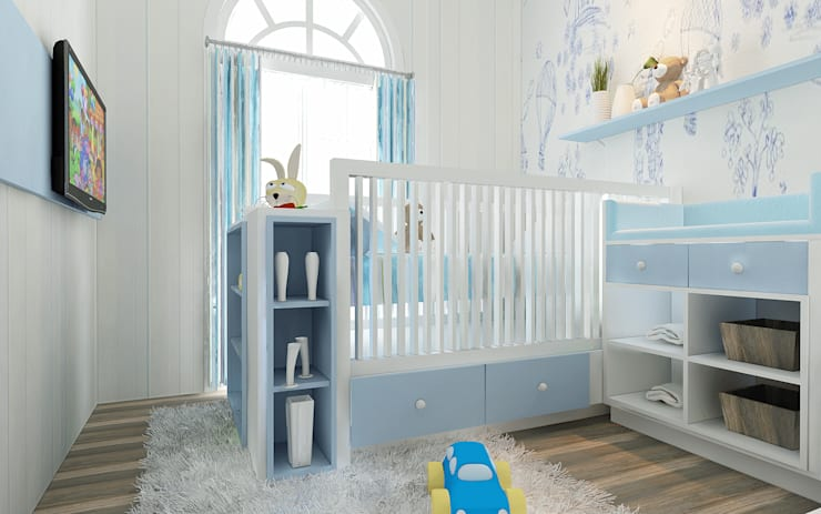 Rumah Tinggal Greenlake: Kamar Bayi & Anak oleh Elora Desain, Modern