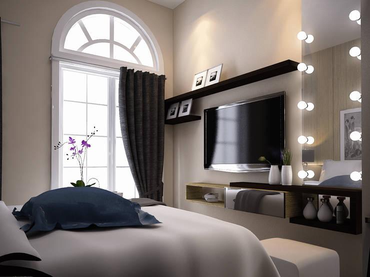 Rumah Tinggal Greenlake: Kamar Tidur oleh Elora Desain, Modern