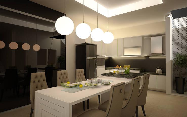 Rumah Tinggal Greenlake: Ruang Makan oleh Elora Desain, Modern
