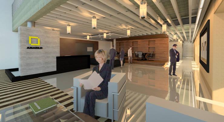 Amarilo Panamá : Oficinas y Tiendas de estilo  por Polanco Bernal Arquitectos , Moderno