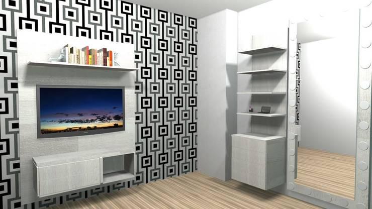 Diseño y fabricación de Muebles para Apto en Bogotá:  de estilo  por Spazio Diseño y Decoración