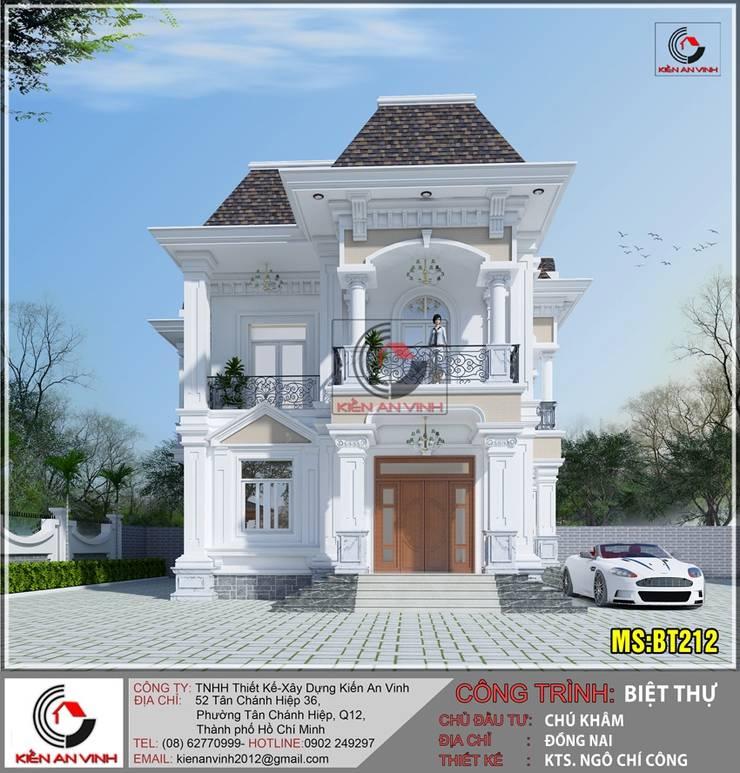 Mẫu thiết kế biệt thự đẹp theo phong cách bán cổ điển không thể bỏ qua:  Nhà by Kiến An Vinh
