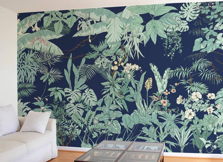Papier Peint Jungle Tropical Borneo Par Ohmywall Homify