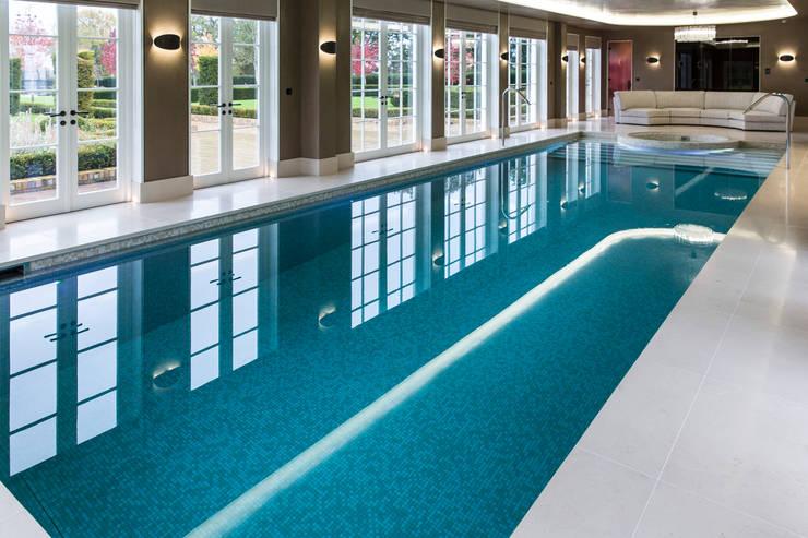 Luxury Pool:  Infinity pool by London Swimming Pool Company
