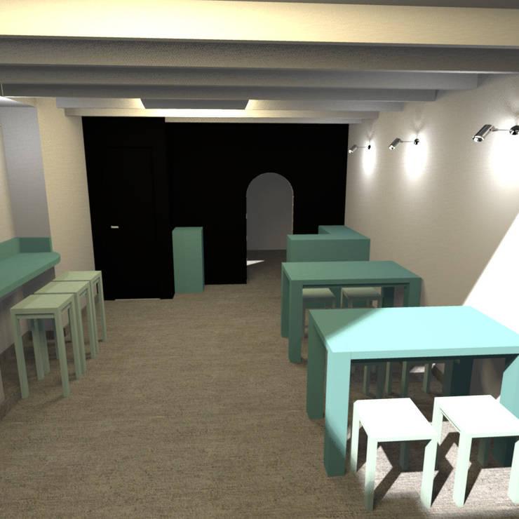 Diseño e Implementación de  Café Restaurante: Restaurantes de estilo  por Minimalistika.com