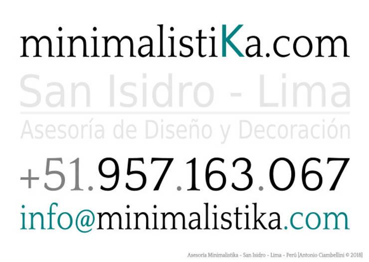 Diseño e Implementación de  Café Restaurante:  de estilo  por Minimalistika.com