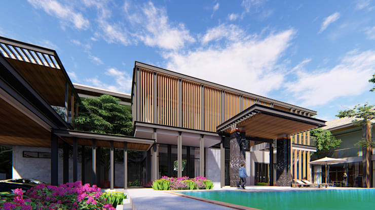 PROJECT: KAI HOUSE :  บ้านและที่อยู่อาศัย by GRID ARCHITECT THAILAND