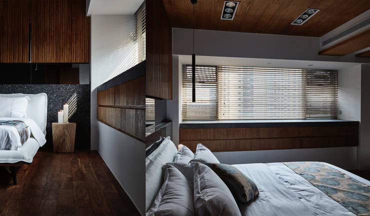侘寂宅居:  臥室 by 大湖森林室內設計