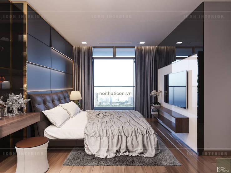 THIẾT KẾ NỘI THẤT CAO CẤP HOÀN CHỈNH CHO CĂN HỘ VINHOMES:  Phòng ngủ by ICON INTERIOR