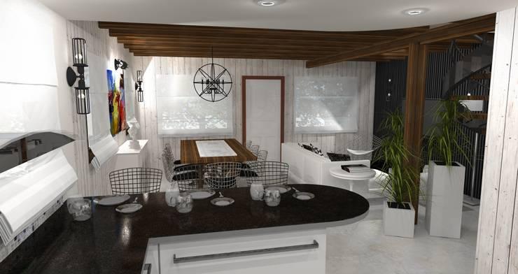 Diseño y decoracion duplex : Comedores de estilo  por Estudio de Arquitectura MEM,