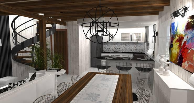 Diseño y decoracion duplex : Cocinas de estilo  por Estudio de Arquitectura MEM,