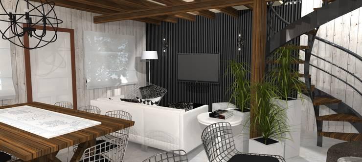 Diseño y decoracion duplex : Livings de estilo  por Estudio de Arquitectura MEM,