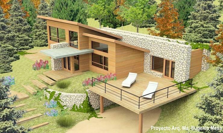 Vivienda unifliar: Casas de estilo  por Estudio de Arquitectura MEM,