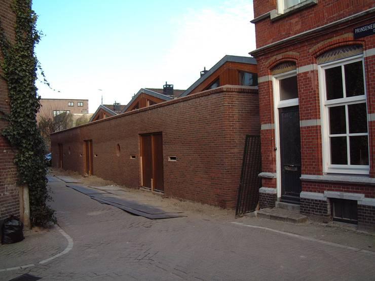 woon-werkunit Prinseneiland 36-38 Amsterdam:  Rijtjeshuis door Studio Y architecten, Industrieel