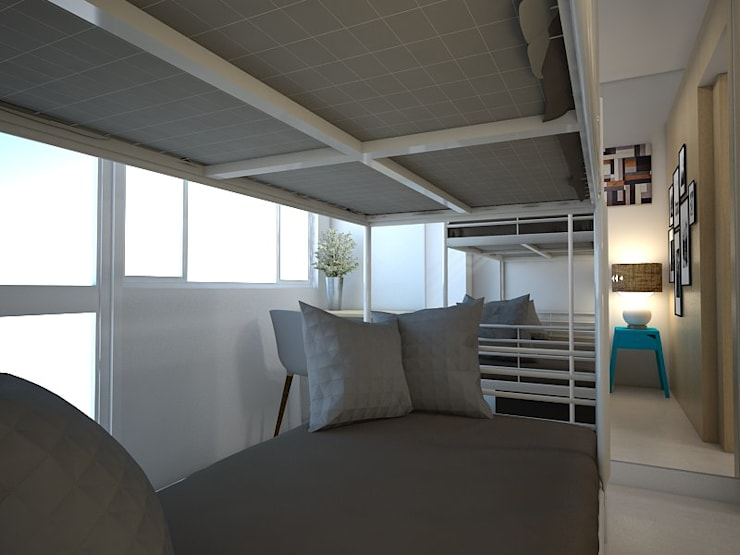 22 sqm Condo in Pasig:   by CIANO DESIGN CONCEPTS