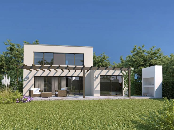 Vista Jardin:  de estilo  por Arq-Sergio Sanz,