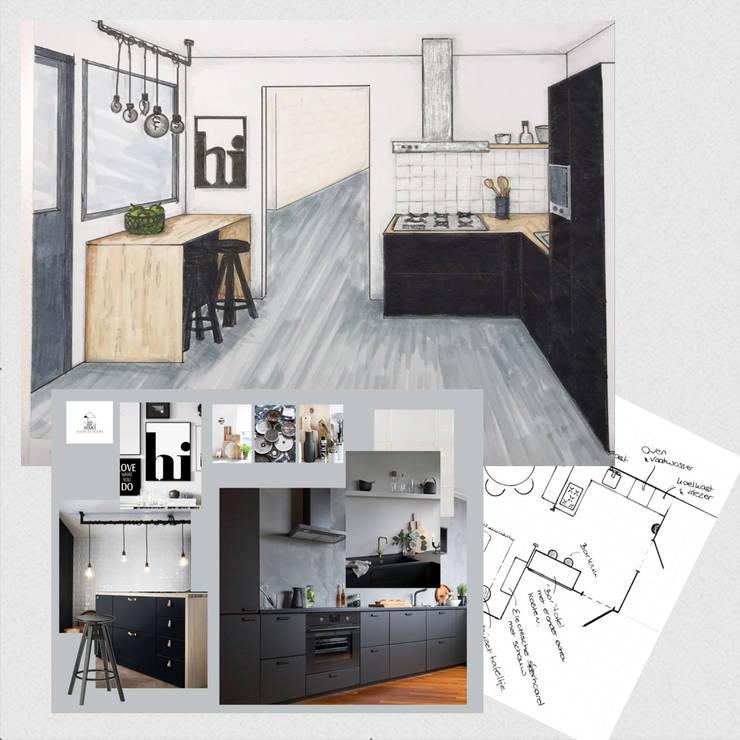 Keuken design plan:  Inbouwkeukens door Studio Room by Room