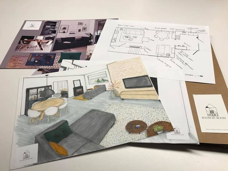 Woonkamer design plan:  Woonkamer door Studio Room by Room
