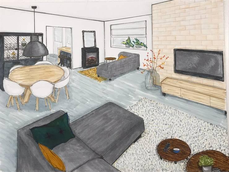 Woonkamer schets:  Keuken door Studio Room by Room