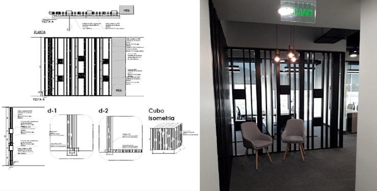 Mueble recibidor: Salas/Recibidores de estilo moderno por Arq Darwin Machiste