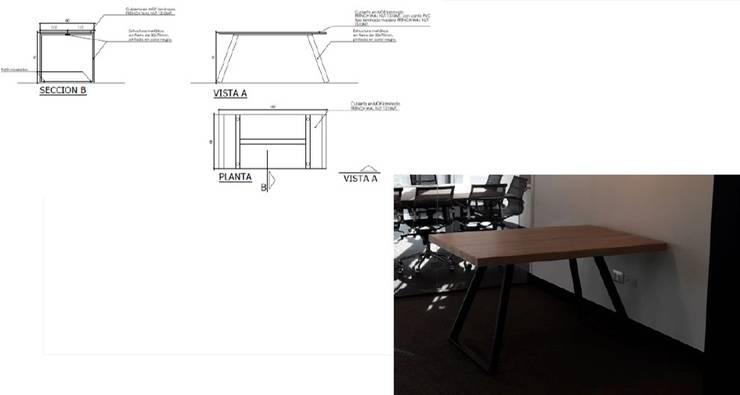 Mesa de trabajo: Estudio de estilo  por Arq Darwin Machiste