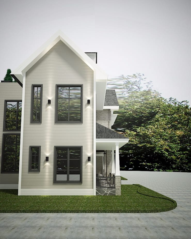 Tampak samping:  Rumah by Lighthouse Architect Indonesia