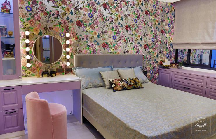 故事的故事-南法鄉村度假小屋:  臥室 by 酒窩設計 Dimple Interior Design