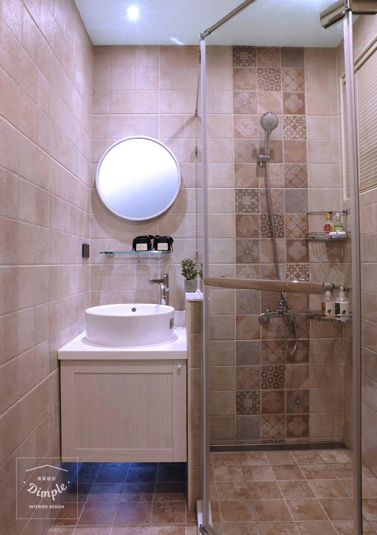 故事的故事-南法鄉村度假小屋:  浴室 by 酒窩設計 Dimple Interior Design