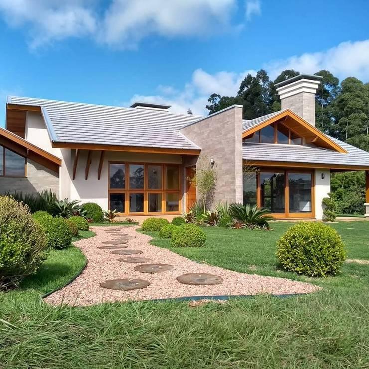 Casa de campo: Casas do campo e fazendas  por Kauer Arquitetura e Design