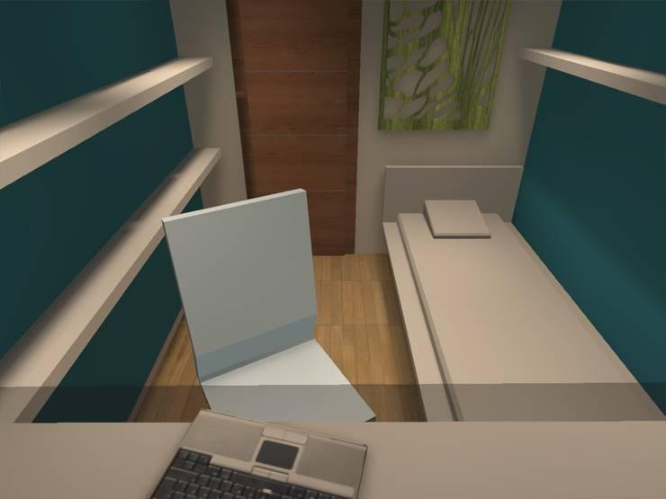 dormitorio: Estudios y biblioteca de estilo  por ATELIER3
