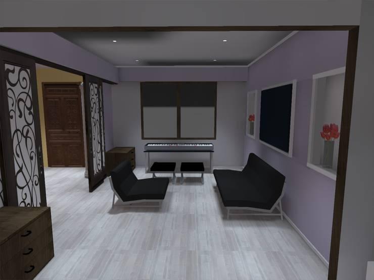 estar: Estudios y biblioteca de estilo  por ATELIER3