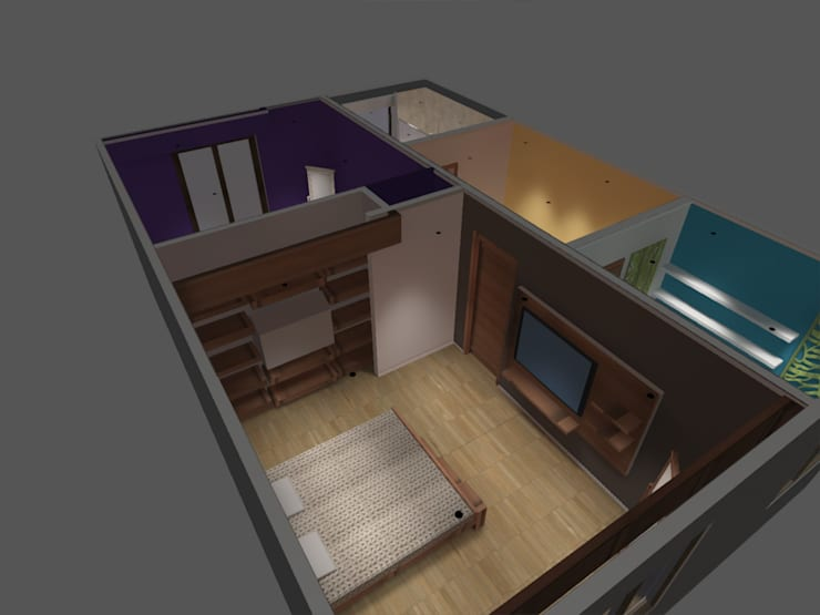 dormitorio: Dormitorios de estilo  por ATELIER3