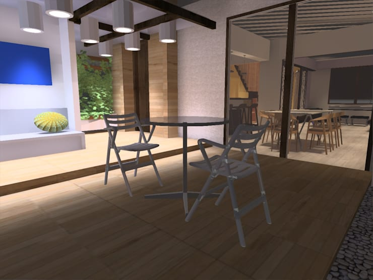terraza: Terrazas  de estilo  por ATELIER3