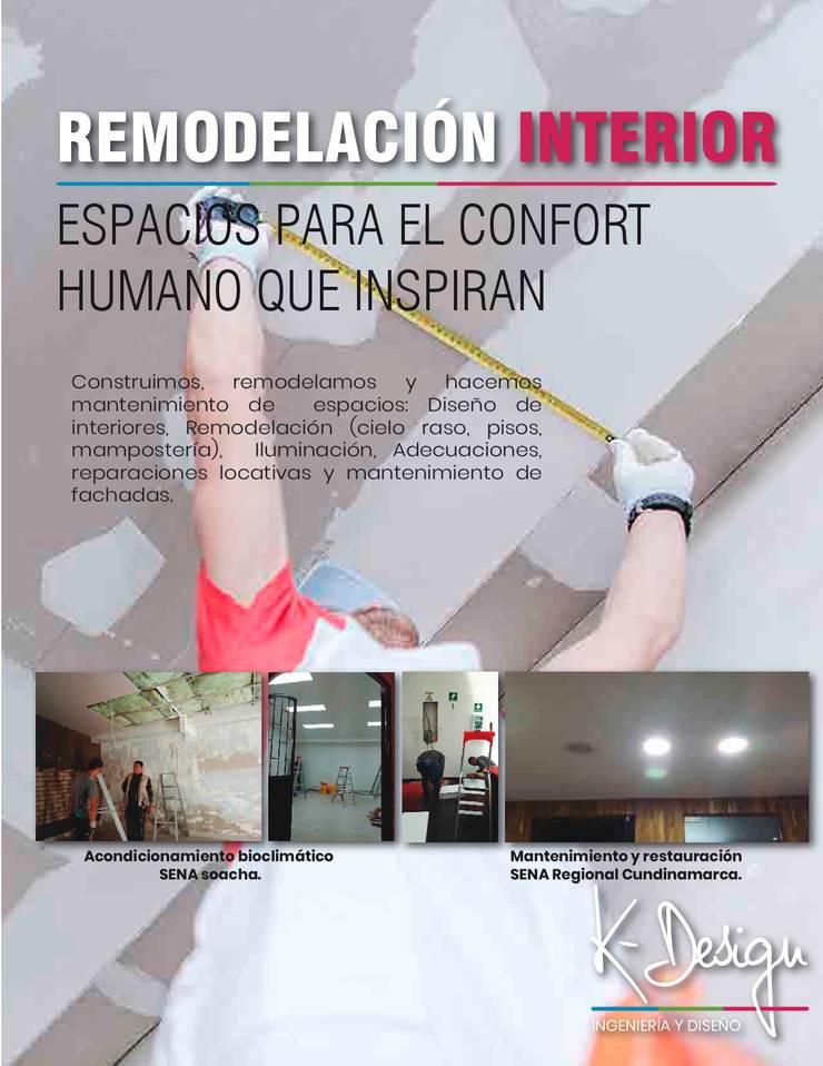 Diseño de interiores y remodelación:  de estilo  por .K-Design arquitectura y diseño interior