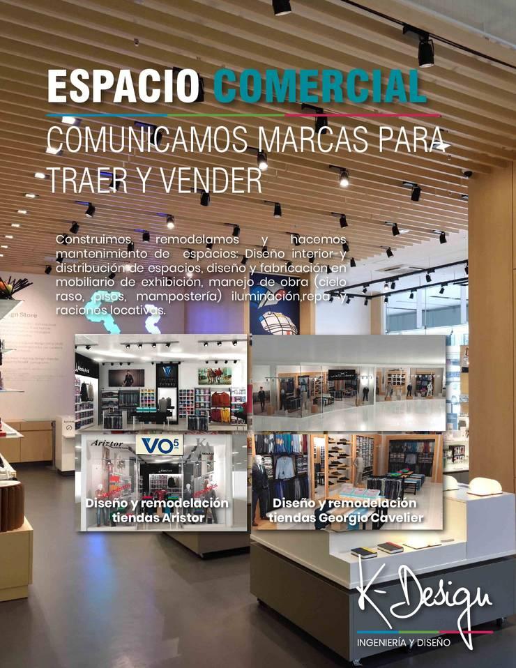 Diseño y remodelación de espacios corporativos:  de estilo  por .K-Design arquitectura y diseño interior