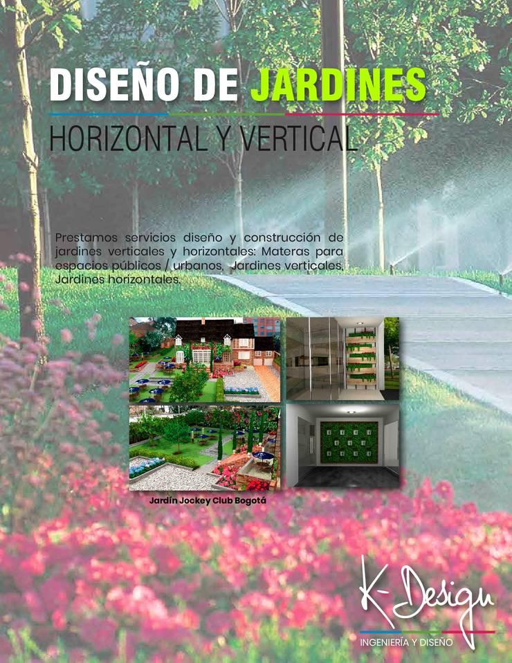 Diseño de jardines:  de estilo  por .K-Design arquitectura y diseño interior