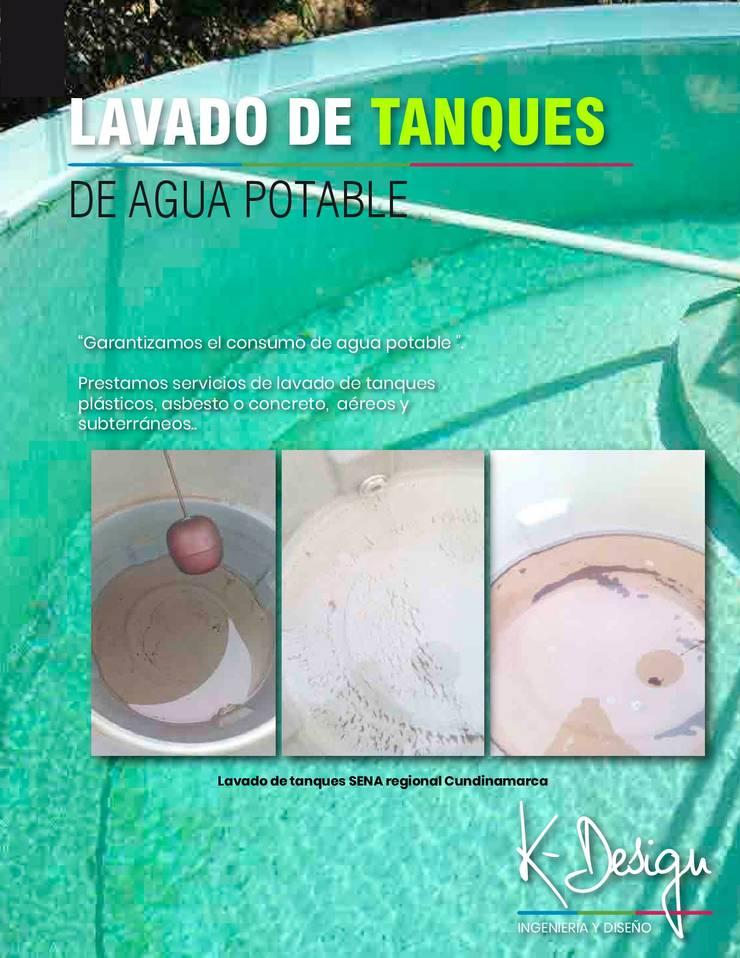 Lavado de tanques:  de estilo  por .K-Design arquitectura y diseño interior