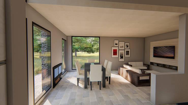 Living comedor luminoso minimalista:  de estilo  por Tila Design,