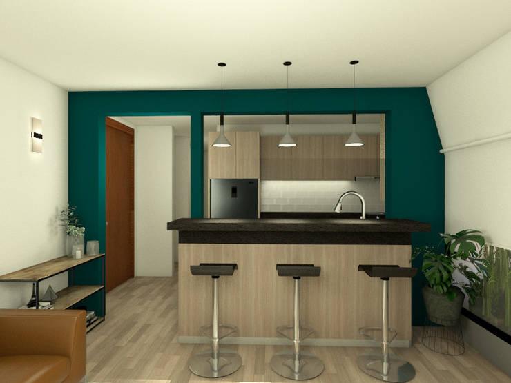 Remodelacion cocina : Cocinas equipadas de estilo  por MM Design