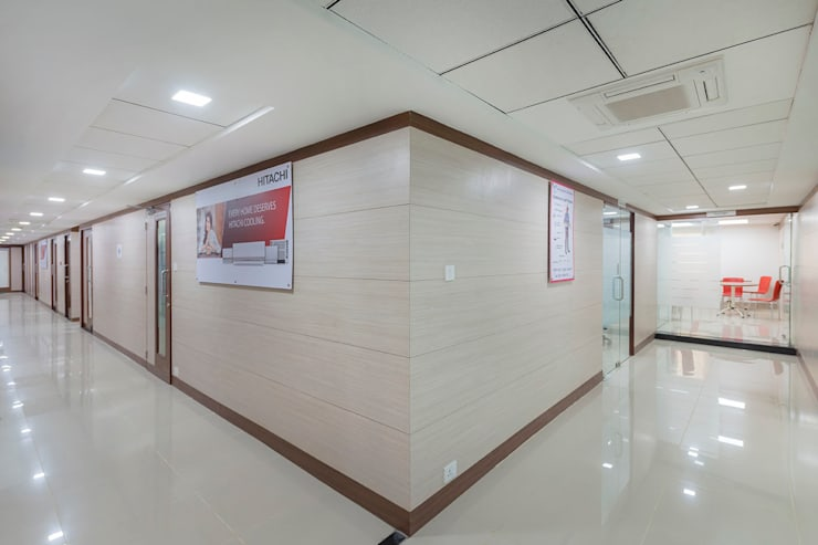 Hall:  Office spaces & stores  by Elcon Infrastructure