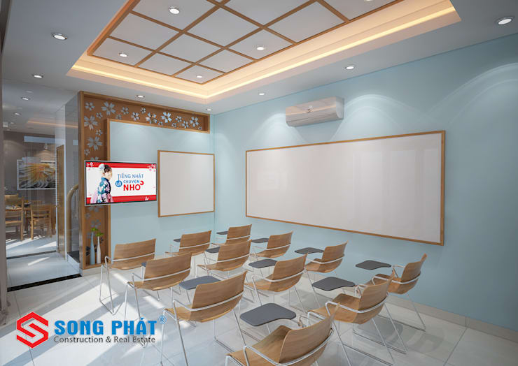 Study/office by Công ty Thiết Kế Xây Dựng Song Phát, Modern