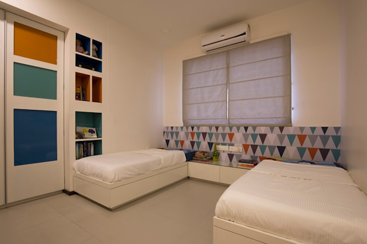 Bedroom:  Bedroom by Kamat & Rozario Architecture,Modern