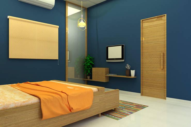 INTERIOR  7 BHK :  Bedroom by PAHENJO,Asian