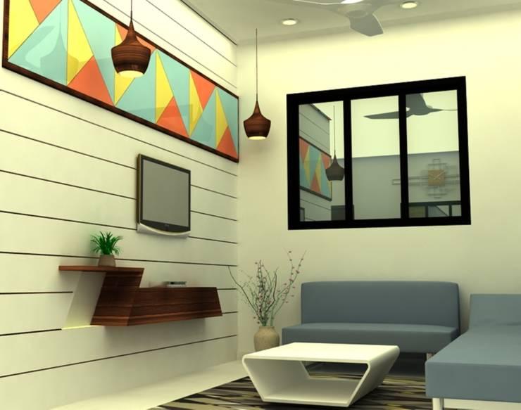 INTERIOR  7 BHK :  Living room by PAHENJO,Asian