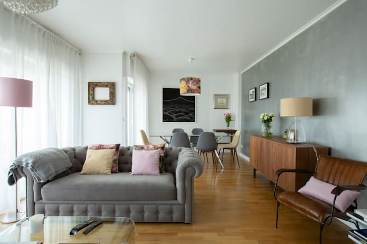 Living room by maria inês home style, Modern